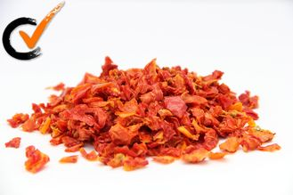 None Additives Organic Air Dried Tomatoes Splice For Home Bright Red Color