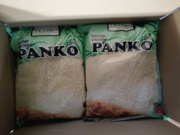China Kosher White Whole Wheat Panko Bread Crumbs Low Carb For Sushi Restaurants supplier