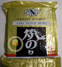 China Yaki Sushi Nori Seaweed Sheets Roasted Seasoned Seaweed Chips Dark Green Color factory
