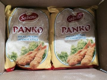 China Japanese Style Whole Wheat Panko Bread Crumbs For Fried Food , White Color distributor